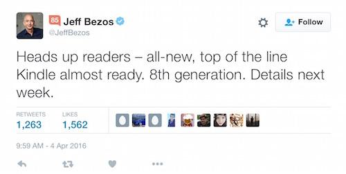 Jeff Bezos Kindle Oasis